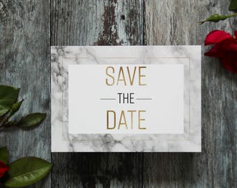 Marble wedding save the date,  modern marble save the date card, marble wedding announcement card, printed wedding save the date cards