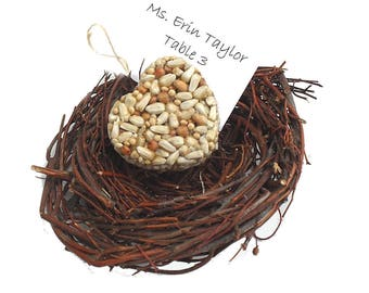 Heart Shaped Bird Seed Feeder Ornament Wedding Favors, Bridal Shower Favors, Natural Biodegradable Eco Friendly Wedding Favors for the Birds