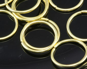 Open jump ring 24 mm 15 gauge ( 1,5 mm ) 50 pcs  raw brass (varnish) jumpring 2415JV-53