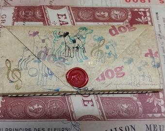 Booklover's Paper Wallet - Dog Theme- 14 pockets Folder Organizer