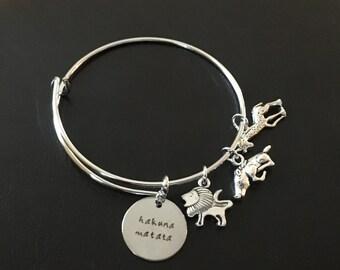 Lion King Inspired Bracelet, Lion King Bangle Bracelet, Lion King Bangle, Lion King Charm Bracelet, Disney Movie Inspired Bracelet