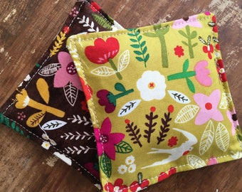 Scandinavia Floral Hand Warmers, flax seed, cotton warmers, hot or cold pack, stocking stuffer, teacher gift, pocket warmers, Vanilla Scent