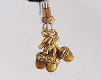 Vintage Acorn Earrings