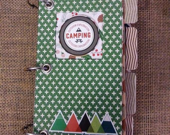 Camping Themed Mini Scrapbooking Album