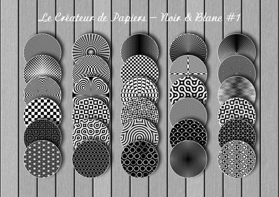 Digital images: 30 different patterns. Black and white
