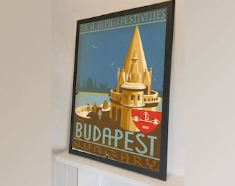 Budapest Hungary Travel - Vintage Reproduction Wall Art Decro Decor Poster Print Any size