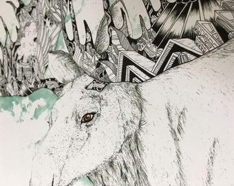 "Moose (print, 11""x17"")"