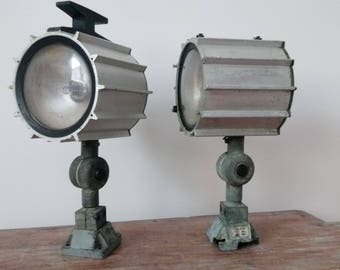 Pair of lights / lamps outside plant