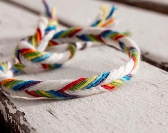 Rainbow friendship string , custom request, free shipping