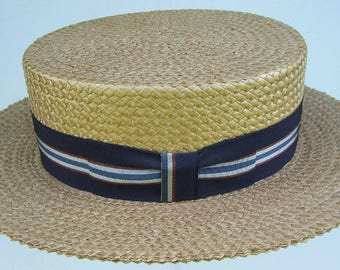 7 1/4 - Vintage Kimball Men's Straw Boater