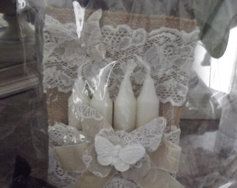 ALL CANDLES shabby chic and romantic