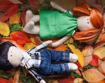 Portrait Doll Handmade Gift Handmade Doll by Photo Tilda Personolized Doll