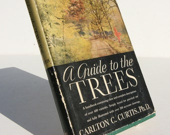 Guide to Trees 1930s stylish Nature Flower Picture book guide Vintage Garden Gifts pictures gardening