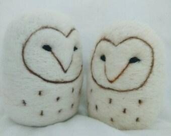Large needle felted owl ,  felted owl