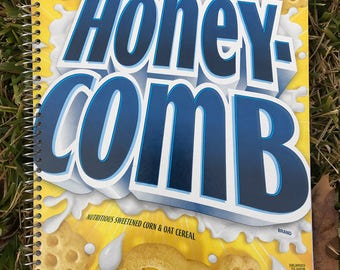 Cereal Box Journal - Honey-Comb
