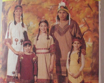 SALE - Child's Costume Pattern - First Americans, Native Americans - McCall's 7765 - Sizes 2 - 12, Chest 21 - 30
