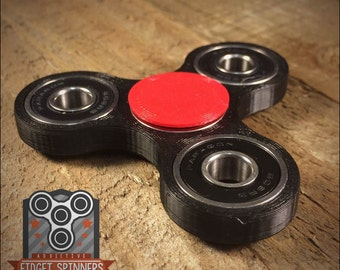 EDC Spinner Tri Bar Fidget Toy with Caps