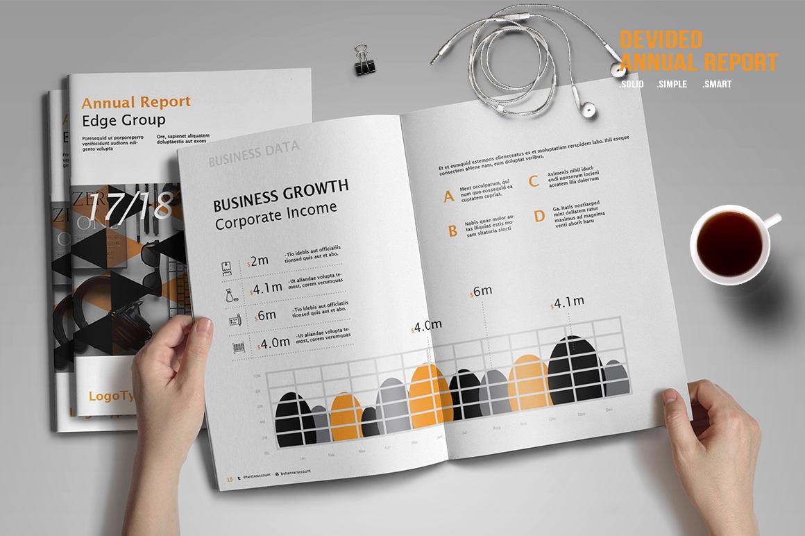 Plantilla de informe anual dividido