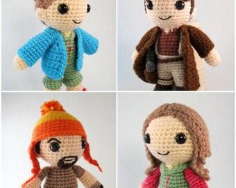 Mal, Jayne and Kaylee - Firefly Amigurumi Pattern PDF - Crochet Patterns