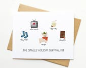 Singles Holiday Survival Kit Xmas Funny Card - Collab with Etsy + Match.com