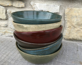 Pottery Bowls set of 6 mix and match