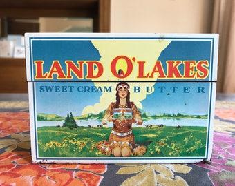 Vintage Land O' Lakes Recipe Tin