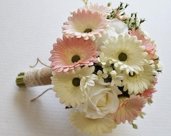 Daisy Wedding Bouquet Country Wedding Bouquet Pink and White Bouquet Bridal Bouquet Daisy Bouquets Wedding Bouquets  Wedding Bouquet