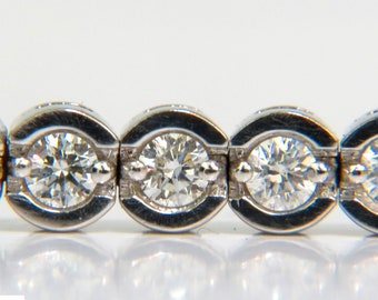 4.30CT Round Diamonds Bracelet G VS A+ Full Cuts 14KT