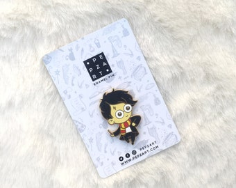 """Harry Potter 2"""" Hard Enamel Pin - HP - World of Wizards and Witches - Lapel Pin - Brooch"""