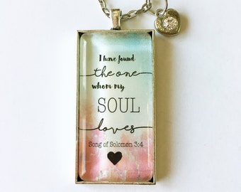 Song Of Solomon personalized message necklace