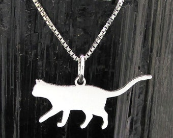 Cat Silhouette pendant, Cat Silhouette Pendant # 7