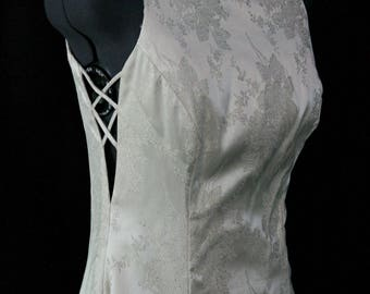 Sale... Elegant simple Ivory wedding dress size 9/10