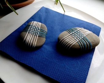 Natural paperweight, stone blue
