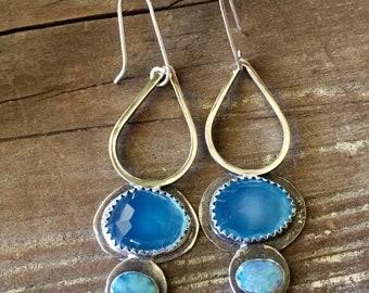 Summery Blue gemstone earrings