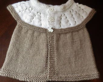Ready for spring,seamless, cap sleeve sweater for 3 month old