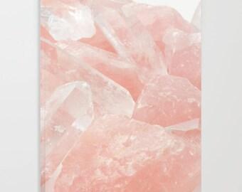 Pink Rose Quartz Journal, Spiritual Journal, Pink Notebook, Pink Journal, Blank Journals, Unlined/Lined Journals, Healing Crystal Notebook