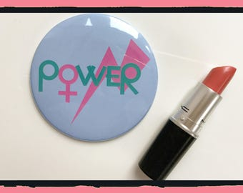 Pocket Mirror - Girl Power Mirror - Feminist - Christmas - Gift - Birthday
