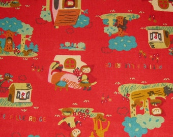 Little Red Riding Hood Fabric, Fabric By The Yard, Cotton Fabric Kawaii Fabric,  Cotton Fabric,Fairy Tale Fabric, Red Cotton Fabric