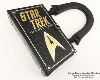 Star Trek Book Purse - Star Trek Follower Gift - Next Generation Book Cover Handbag - Star Trek Cosplay Accessory - Voyager Collector Item