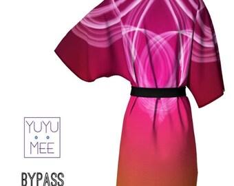 "Valentines Day Men's, Women's Short Kimono Robe, ""Bypass"""