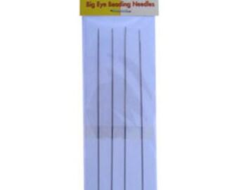 """Big Eye Straight Needles 5"""" (Pkg of 4)  (CD917)"""
