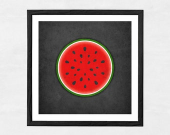 Watermelon print. Red kitchen print watermelon poster red kitchen poster fruit print fruit poster red kitchen decor housewarming present