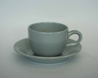 vintage franciscan reflections cup and saucer in gray