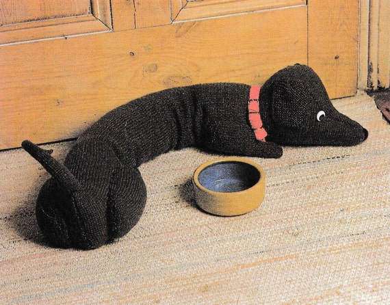 Pdf Vintage Dachshund Draught Excluder Knitting Pattern
