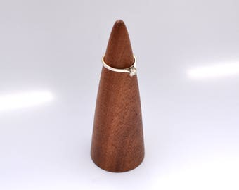 Wooden Ring Cone - African Mahogany - Jewellery Cone - jewellery storage - Jewellery Display