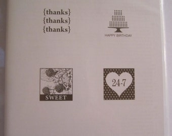 Pretty Postage  Stampin' Up! Clear mount stamp  Set