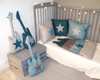 AVAILABLE: Sleeping bag 0-6 months teal, Teal and gray stars