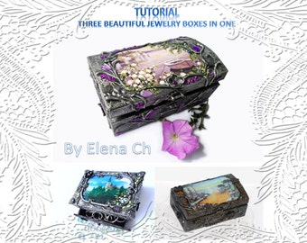 Tutorial.Three beautiful jewelry boxes in one (PDF Format)