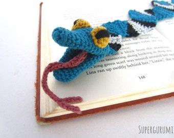 Amigurumi Crochet Snake Bookmark