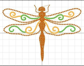 Dragonfly Embroidery File